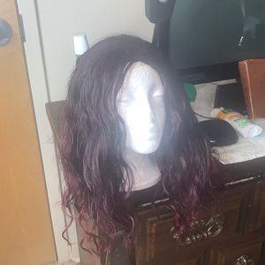 Red & Black Wig